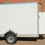 Indespension single axle box trailer + Cameron 77/90 basket